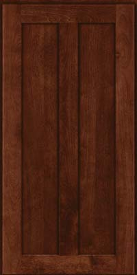 Square Recessed Panel - Veneer (NT) Birch in Kaffe - Wall