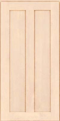 Square Recessed Panel - Veneer (HW) Birch in Parchment - Wall