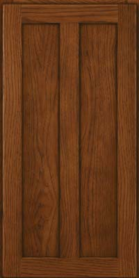Square Recessed Panel - Veneer (AC5H) Hickory in Cognac - Wall