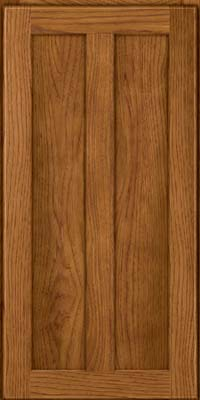 Square Recessed Panel - Veneer (AC5H) Hickory in Golden Lager - Wall