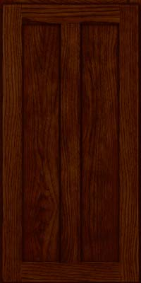 Square Recessed Panel - Veneer (AC5H) Hickory in Kaffe - Wall