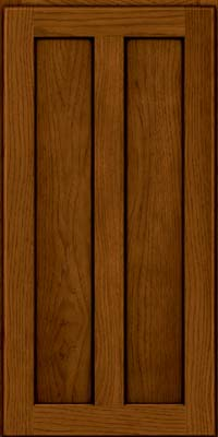 Square Recessed Panel - Veneer (AC5H) Hickory in Praline w/Onyx Glaze - Wall