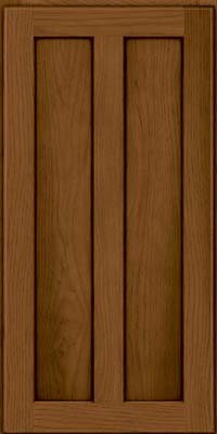 Square Recessed Panel - Veneer (AC5H) Hickory in Rye w/Sable Glaze - Wall