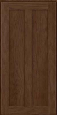 Square Recessed Panel - Veneer (AC5H) Hickory in Saddle - Wall