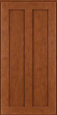 Square Recessed Panel - Veneer (WI) Maple in Chestnut - Wall