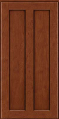Square Recessed Panel - Veneer (WI) Maple in Chestnut w/Onyx Glaze - Wall