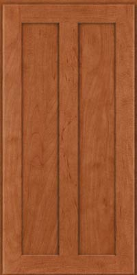 Square Recessed Panel - Veneer (WI) Maple in Cinnamon - Wall