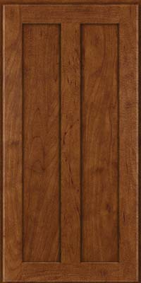 Square Recessed Panel - Veneer (WI) Maple in Cognac - Wall