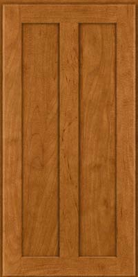 Square Recessed Panel - Veneer (WI) Maple in Golden Lager - Wall