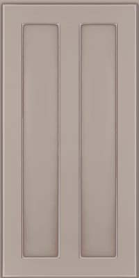 Square Recessed Panel - Veneer (WI) Maple in Pebble Grey w/ Coconut Glaze - Wall