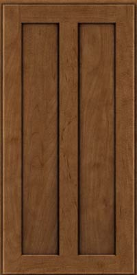 Square Recessed Panel - Veneer (WI) Maple in Rye w/Onyx Glaze - Wall