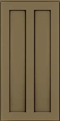 Square Recessed Panel - Veneer (WI) Maple in Sage w/Cocoa Glaze - Wall