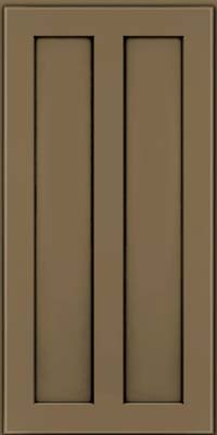 Square Recessed Panel - Veneer (WI) Maple in Sage w/Onyx Glaze - Wall