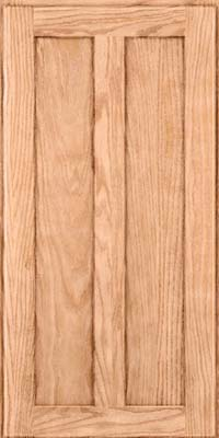 Square Recessed Panel - Veneer (AC5O) Oak in Natural - Wall