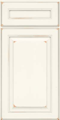 Square Raised Panel - Solid (LCC) Cherry in Vintage Dove White - Base