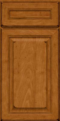 Square Raised Panel - Solid (LCM) Maple in Burnished Golden Lager - Base