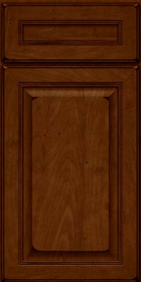 Square Raised Panel - Solid (LCM) Maple in Burnished Chestnut - Base