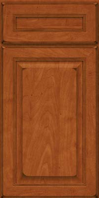 Square Raised Panel - Solid (LCM) Maple in Burnished Cinnamon - Base