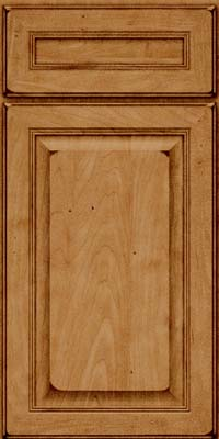 Square Raised Panel - Solid (LCM) Maple in Burnished Ginger - Base