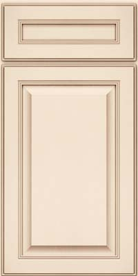Square Raised Panel - Solid (LCM) Maple in Canvas w/Cocoa Glaze - Base
