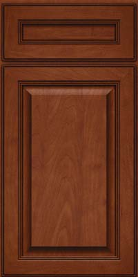 Square Raised Panel - Solid (LCM) Maple in Chestnut w/Onyx Glaze - Base