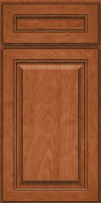 Square Raised Panel - Solid (LCM) Maple in Cinnamon - Base