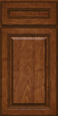 Square Raised Panel - Solid (LCM) Maple in Cognac - Base