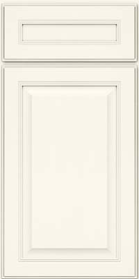 Square Raised Panel - Solid (LCM) Maple in Dove White - Base