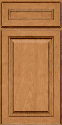 Square Raised Panel - Solid (LCM) Maple in Ginger w/Sable Glaze - Base