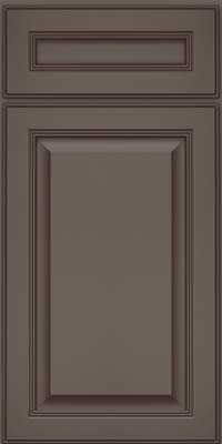 Square Raised Panel - Solid (LCM) Maple in Greyloft w/ Sable Glaze - Base