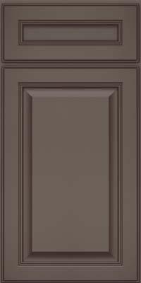 Square Raised Panel - Solid (LCM) Maple in Greyloft w/ Sable Glaze - Base