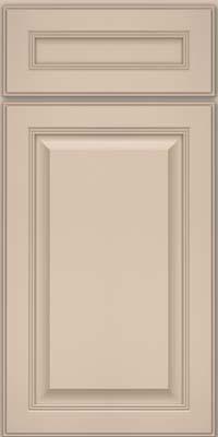 Square Raised Panel - Solid (LCM) Maple in Mushroom w/ Cinder Glaze - Base