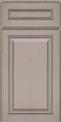 Square Raised Panel - Solid (LCM) Maple in Pebble Grey - Base