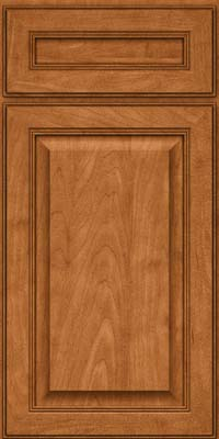 Square Raised Panel - Solid (LCM) Maple in Praline w/Mocha Highlight - Base