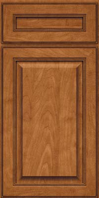 Square Raised Panel - Solid (LCM) Maple in Praline w/Onyx Glaze - Base