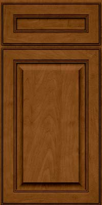 Square Raised Panel - Solid (LCM) Maple in Rye w/Sable Glaze - Base