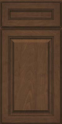 Square Raised Panel - Solid (LCM) Maple in Saddle Suede - Base