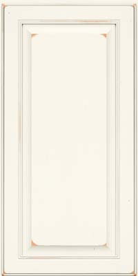 Square Raised Panel - Solid (LCC) Cherry in Vintage Dove White - Wall