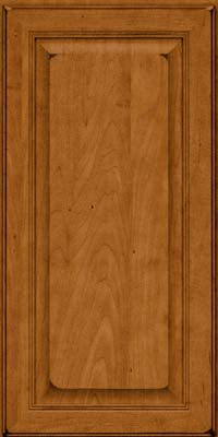 Square Raised Panel - Solid (LCM) Maple in Burnished Golden Lager - Wall