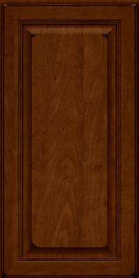 Square Raised Panel - Solid (LCM) Maple in Burnished Chestnut - Wall