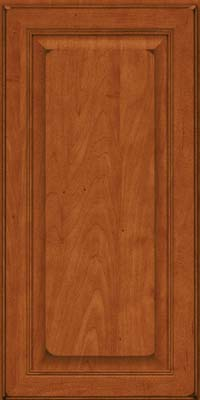 Square Raised Panel - Solid (LCM) Maple in Burnished Cinnamon - Wall