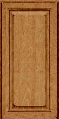 Square Raised Panel - Solid (LCM) Maple in Burnished Ginger - Wall