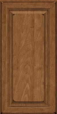 Square Raised Panel - Solid (LCM) Maple in Burnished Rye - Wall