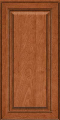 Square Raised Panel - Solid (LCM) Maple in Cinnamon - Wall