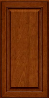 Square Raised Panel - Solid (LCM) Maple in Cinnamon w/Onyx Glaze - Wall