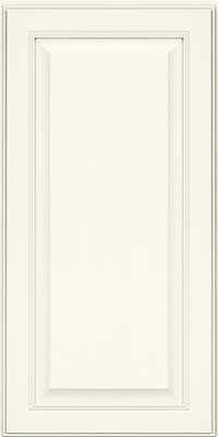 Square Raised Panel - Solid (LCM) Maple in Dove White - Wall