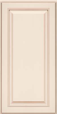 Square Raised Panel - Solid (LCM) Maple in Dove White w/Cocoa Glaze - Wall