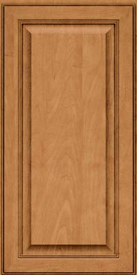 Square Raised Panel - Solid (LCM) Maple in Ginger w/Sable Glaze - Wall