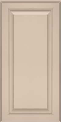 Square Raised Panel - Solid (LCM) Maple in Mushroom w/ Cinder Glaze - Wall