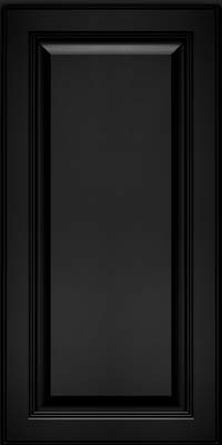 Square Raised Panel - Solid (LCM) Maple in Onyx - Wall